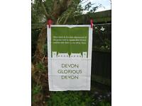 Devon tea towels, 100% cotton, designed in Topsham, made & printed in UK.