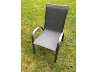 Set of 6 garden chairs