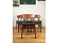 Mid Century 1960s Teak Dining Chairs by Farstrup Møbler Set of 6 FREE LOCAL DELIVERY