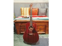 Fender CD140-S acoustic guitar. Dreadnought size. Inc. deluxe gig bag, capo and humidifier.
