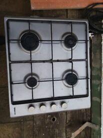 Beko gas hob - 4 burner, works, 58cm x 51cm