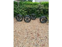 5 series Alloys + Tyres