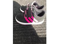 Adidas trainers.toddler size 6. Pink and black