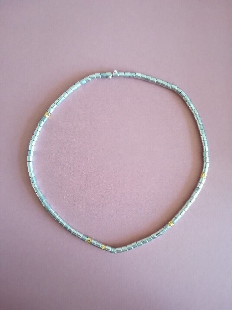 Dower and Hall Stirling Silver and 18ct Gold Choker Necklace | in Blandford  Forum, Dorset | Gumtree