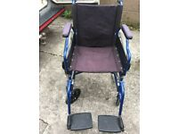 wheelchair lightweight, folds down for car etc