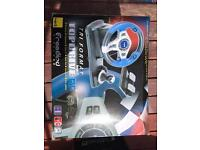 PS3/PC racing wheel and pedals