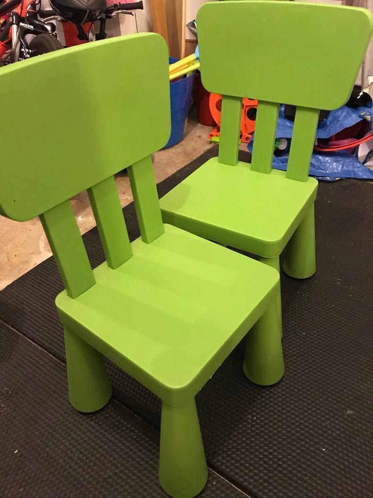 Brilliant Ikea Green Kids Chairs X2 In Cramlington Northumberland Gumtree Forskolin Free Trial Chair Design Images Forskolin Free Trialorg