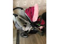 Oyster max 2 tandem pram / twin buggy