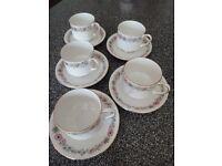 Retro china tea cups & saucers