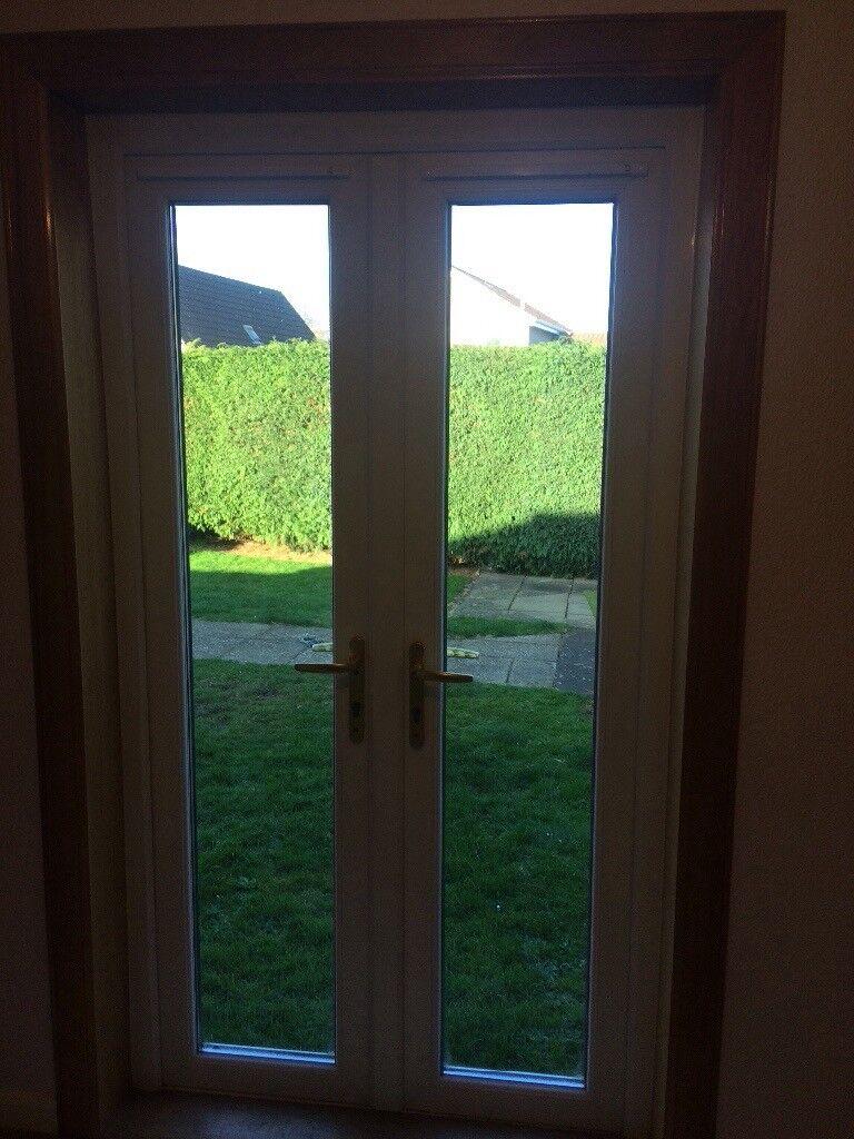 UPVC double glazed French doors -white