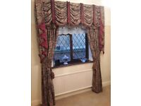 Custom made swags and tails curtains and tie backs