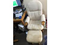 Rocking/nursing chair and stool