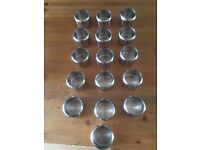 Stainless Steel sugar bowls X16