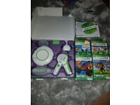 Leap frog leap tv console and 4 games