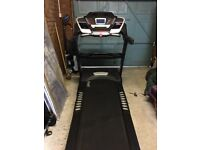 Running machine upto 18Kmph with 15 incline levels folding design,