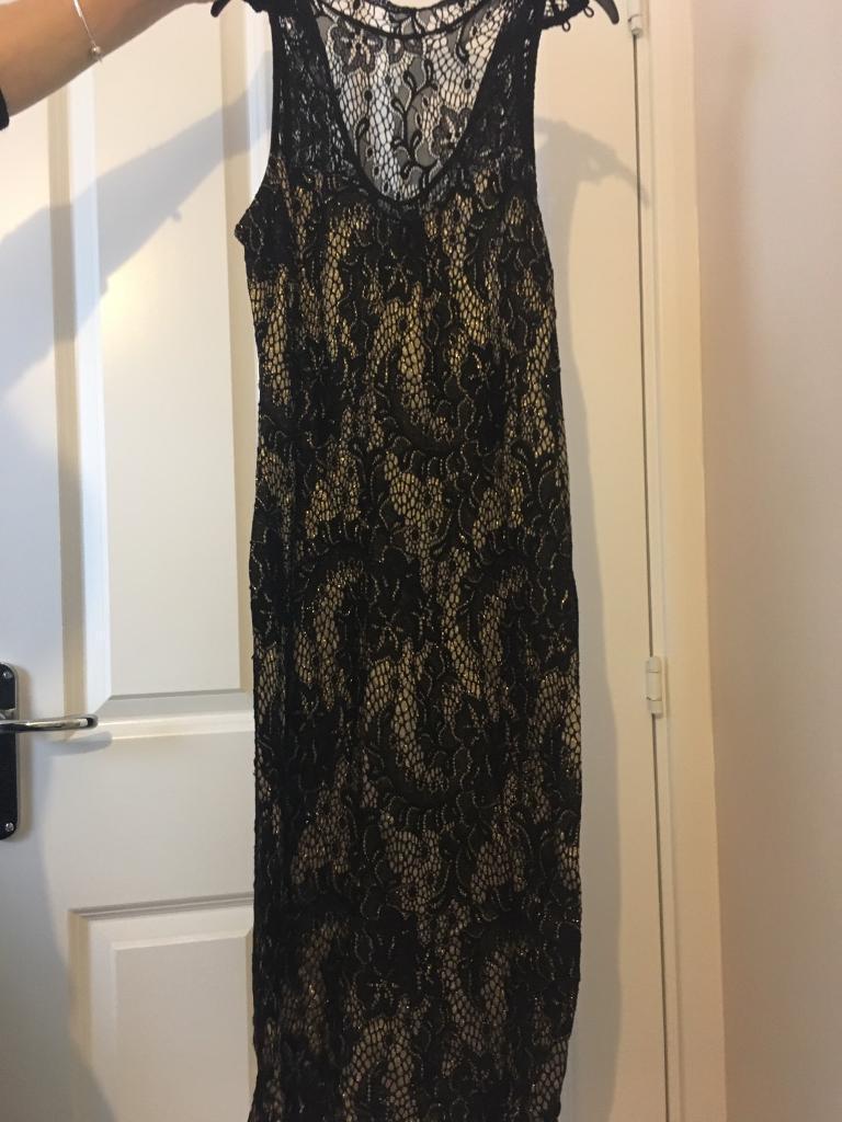 Lipsy dress black and goldin Wakefield, West YorkshireGumtree - Gold and black lace lipsy dress size 12 smoke free home wakefield wf2