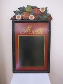 Wall mounted Wooden Menu Board