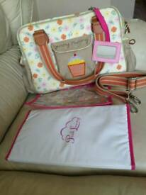 Pink linning yummy mummy baby changing bag