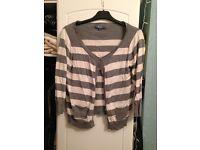 Striped women's cardigan size 12