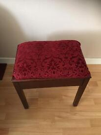 Piano stool recently re-furbished and upholstered with opening compartment.
