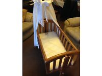 Troll Swinging Crib Cot with Mattress