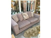 Corner Sofa, 3 Seater Sofa and Footstool