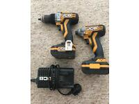 JCB brushes hammer drill driver and impact driver