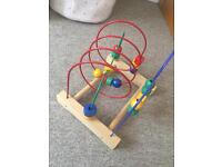 Ikea wooden bead toy