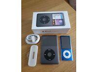 7th Generation iPod Classic 160GB (inc. bonus 5th Generation iPod Nano 8GB) - Used, good condition!