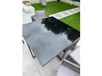 Garden furniture patio dining set table chairs and stools