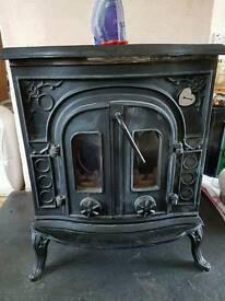 Very high output Cast Iron Burner . Wood/Coal.