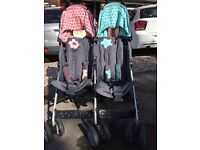 Cosatto bro and sis double pushchair