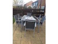 Contemporary patio table & chairs