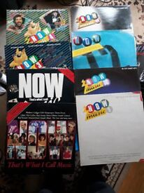 AROUND 50 IN TOTAL VARIOUS COMPILATION VINYL LPS MAINLY 1980's