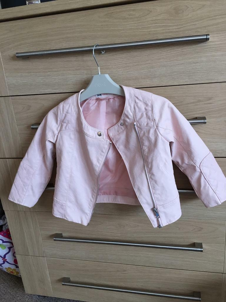 Fab little peach jacket age3/4 years from H/M
