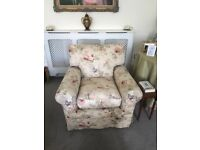 2 John Lewis fabric armchairs - Save over £300 on new per chair