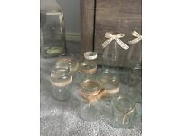 Rustic jars, wedding/party centrepieces