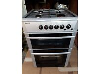 BEKO Gas Oven Silver Freestanding Clean and Tidy
