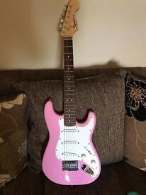 Fender squier mini pink guitar