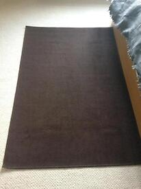 2 Chocolate Brown Rugs - £15 for both