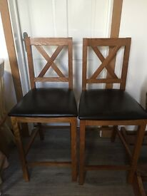 Pair of Maple Bar Stools - Excellent Condition