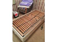 Single electric bed with base and mattress