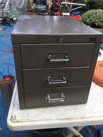 Small Table /shelf Top Metal Cabinet
