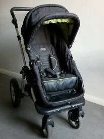 Pram push chair.