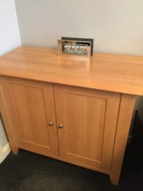 2 Sideboards with middle shelf size 99cm W x 51cm deep x 82cm high in excellent condition £50 each