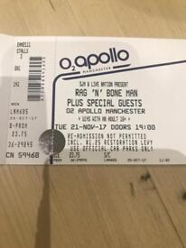 Rag 'n' Bone Man Manchester O2 Apollo Tuesday 21st November