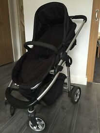iCandy Cherry Pushchair (black) complete with Footmuff, Rain cover and Car Seat Adaptors (worth £40)