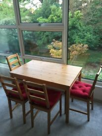 Ikea Dining Set - Chair, Table and Pillows - Very Clean and New