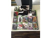 Xbox 360 slim 250gb with kinect + 13 games