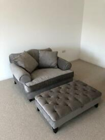 Next snuggler sofa and footstool